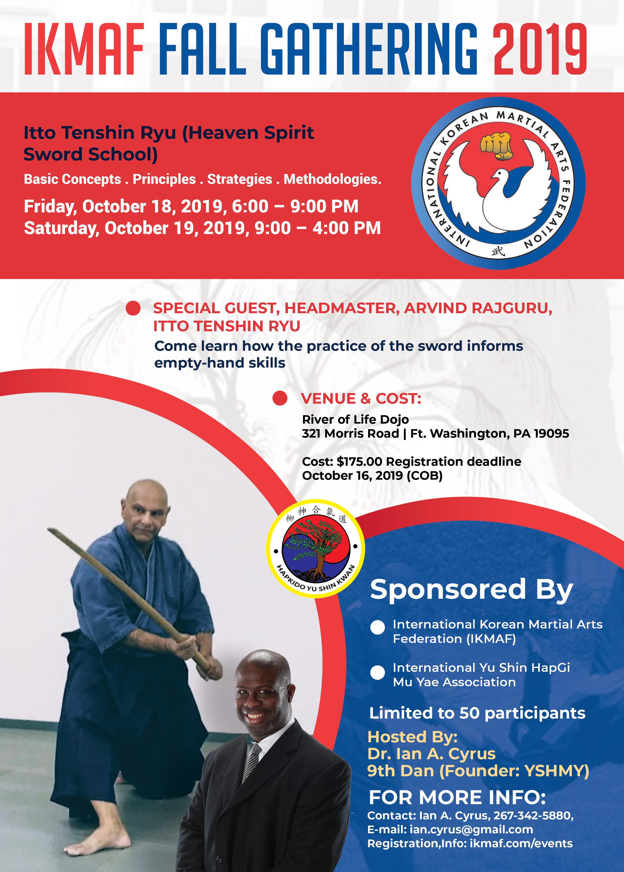 International Korean Martial Arts Federation - IKMAF 2019 Fall Gathering
